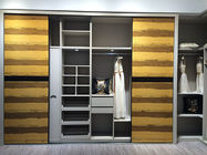 Classical Wood Oak Particle Board Wardrobe For Home Decor Furniture 18mm Thickness