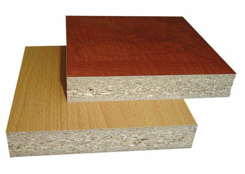 Poplar Core Melamine Coated Particle Board / WBP Glue Laminated Particle Panels