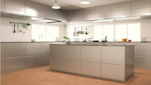 Contemporary White Melamine Kitchen Cabinets , Solid Wooden Cupboard For Kitchen