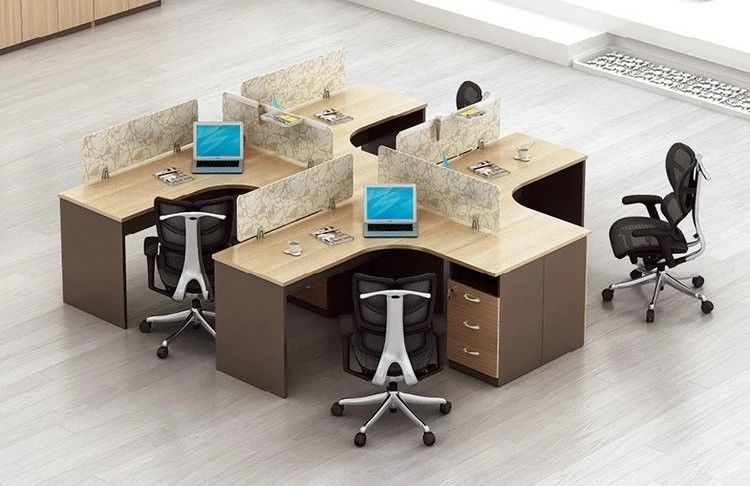Unique Style Staff Particle Board Office Furniture With MFC Melamine Face Chipboard