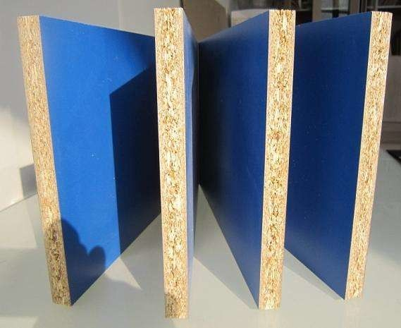 Blue Water Resistant Laminated Particle Board Chipboard For Kitchen Cabinet Doors