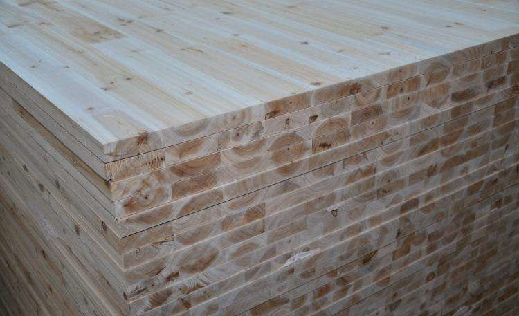 Fir Core Melamine Paper Faced Laminated Block Board For Furniture Cabinet Use
